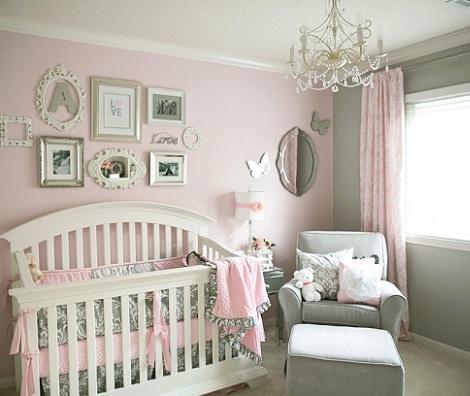 habitacion bebe rosa gris