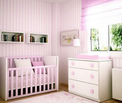 Habitaci n beb rosa - Habitacion de nina bebe ...