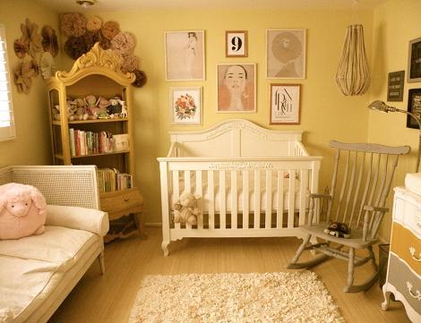 Habitación de bebé vintage