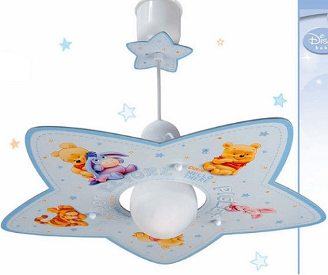 lamparas infantiles disney techo winnie