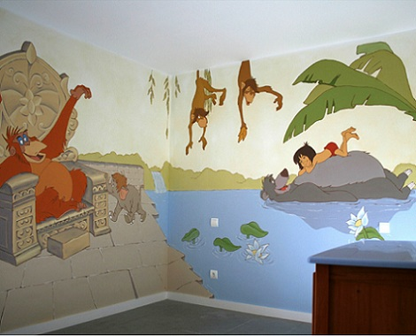 mural infantil libro de la selva