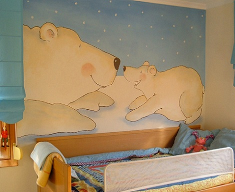 mural infantil osos