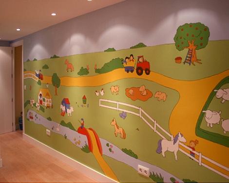 mural infantil paisaje
