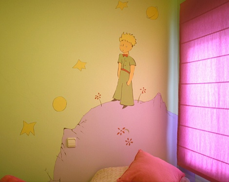 mural infantil principito