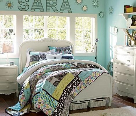 7 habitaciones juveniles chica azul