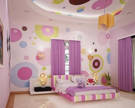 7 habitaciones juveniles chica círculos
