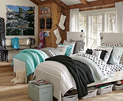 7 habitaciones juveniles chica dos camas