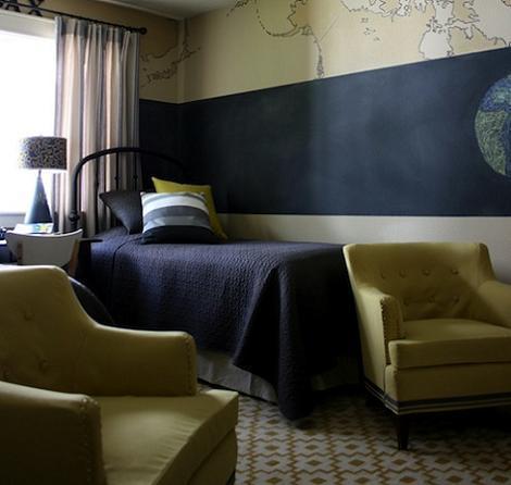 Dormitorio de chico en azul