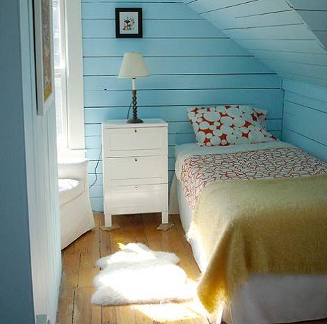 Dormitorio juvenil rústico