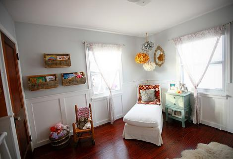 Dormitorio de niño vintage