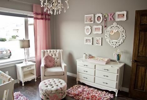 Dormitorio vintage de niña
