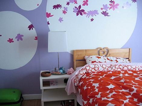 Habitación de chica lila