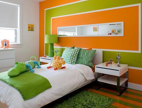 Habitación de chica verde