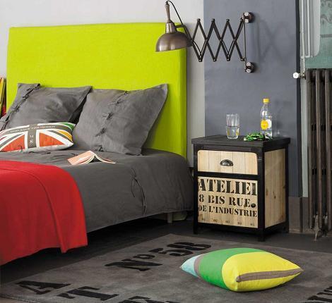 habitación industrial para adolescente