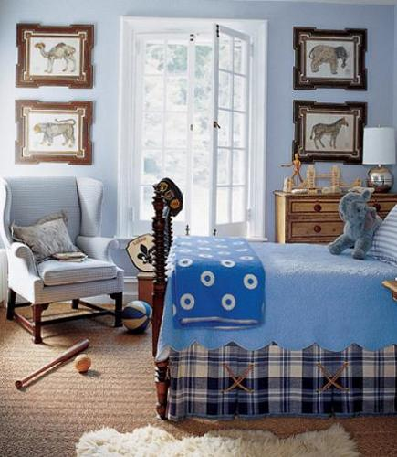Habitación de niño azul