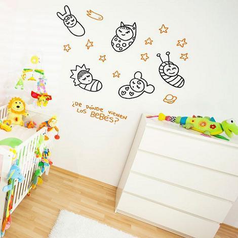 Vinilos para el dormitorio del bebé
