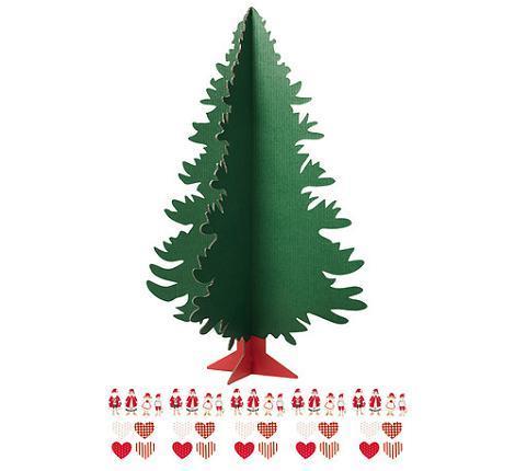 Árbol de Navidad con pegatinas
