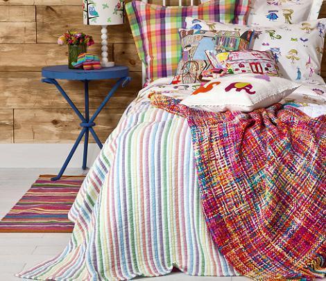 Colcha de rayas Zara Home