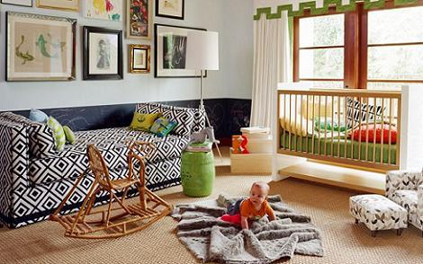 Dormitorio de bebe de colores