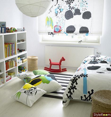 Dormitorio blanco para niños
