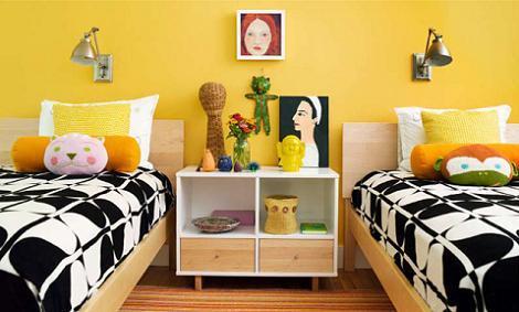 Dormitorio infantil amarillo
