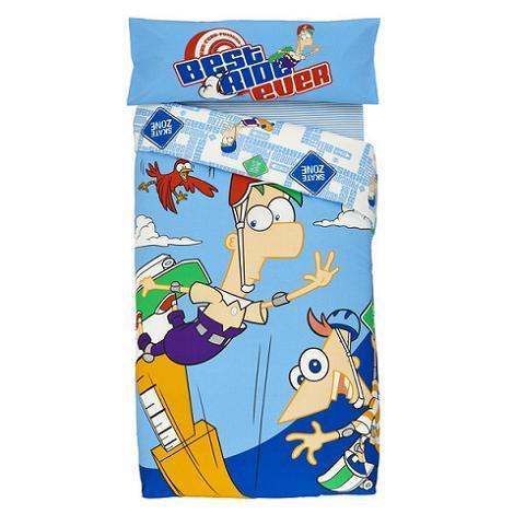 Funda nórdica Phineas Ferb