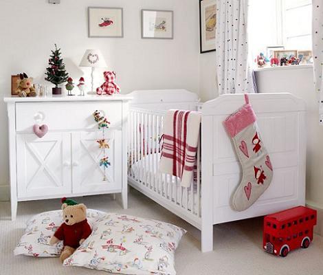 Habitación de bebé de Navidad