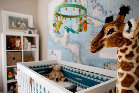 Habitación de bebé con peluches