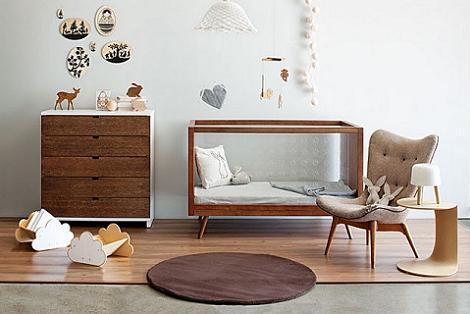 Habitación moderna para bebé