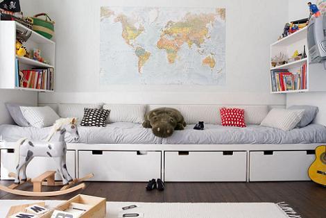 Habitación con paredes blancas