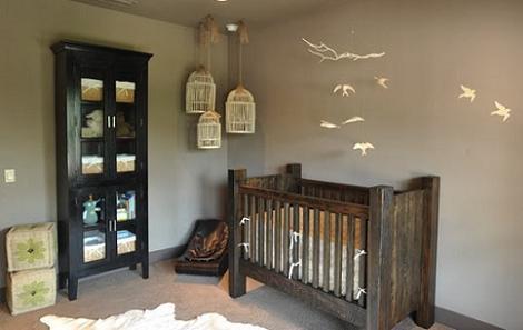 Habitaci n de beb r stica - Decorar habitacion rustica ...