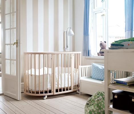 Dormitorio de bebé neutro