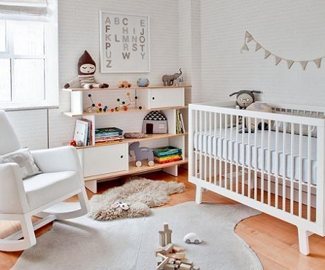 Dormitorio de bebé nórdico