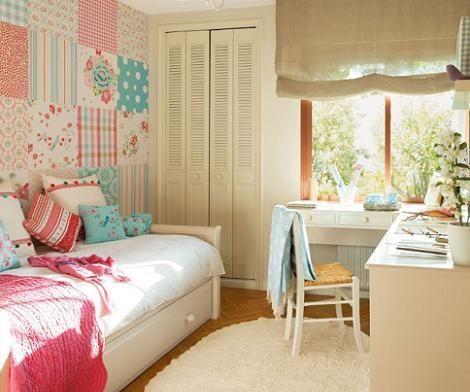 Habitaciones juveniles vintage - Dormitorio vintage chic ...
