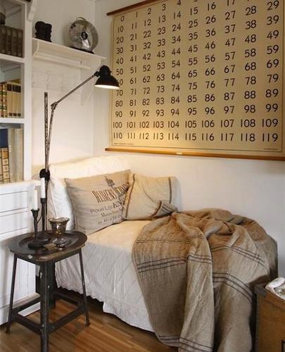 Dormitorio vintage para chico