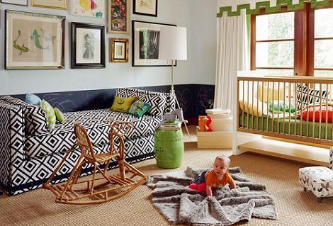 Habitación bebé retro
