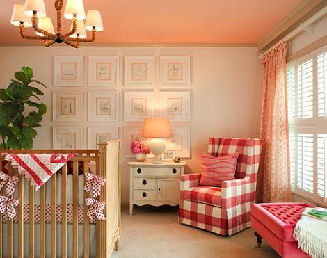Habitación bebé rústica