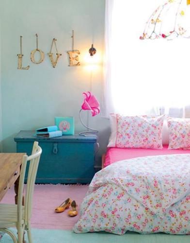 Habitación de chica vintage