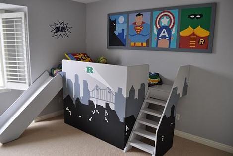 Habitación de superhéroes