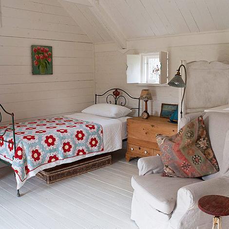 Habitación vintage y rústica