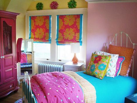 Dormitorio juvenil de colores