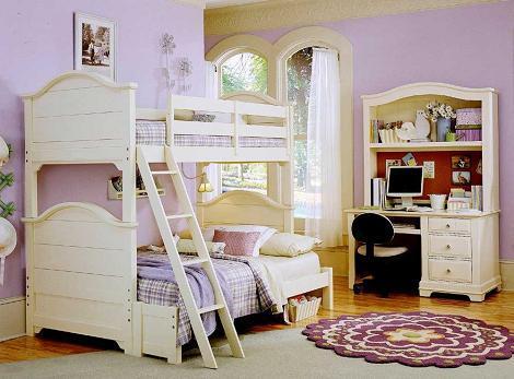 Dormitorio con literas clásico