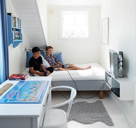 Habitación juvenil en el ático