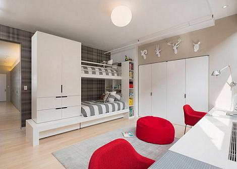 Habitación juvenil literas