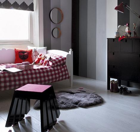 Habitación niña gris