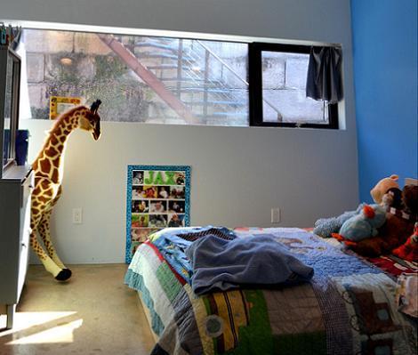 Habitación para niño gris