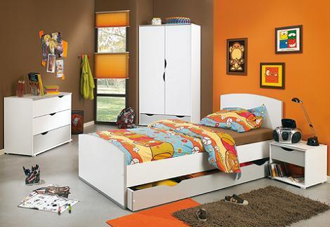 Dormitorio naranja marrón
