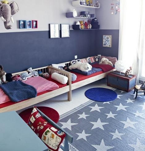 Dormitorio azul niños