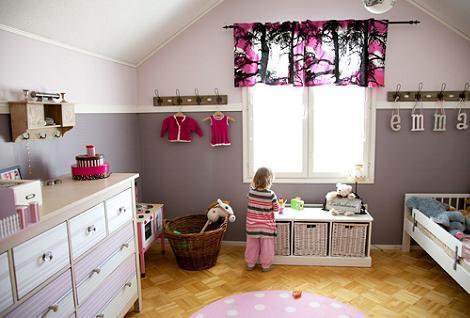 Dormitorio niña gris