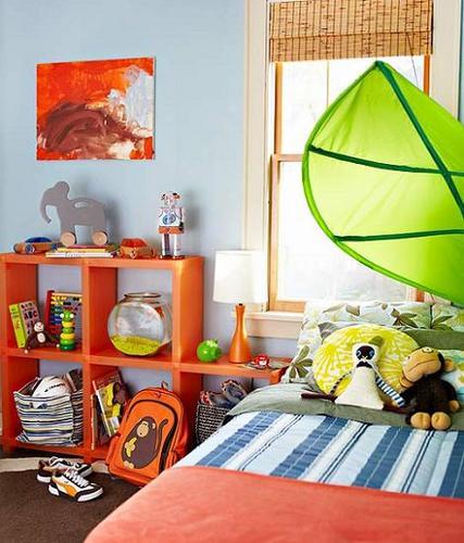 Dormitorio niño en azul